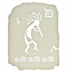 "10"" Petroglyph Kokopelli Ancient Tablet Metal Wall Art"