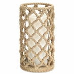 "10"" Rope Look Pillar Candle Holder, Set of 3"