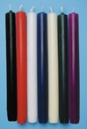 """10"""" Twelve Dinner Taper Candles, 7 Color Choices"""
