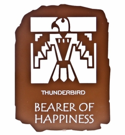 "12"" Native American Bearer of Happiness Metal Wall Art"
