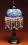 "13.75"" Grapevine Glass and Metal Table Lamp"