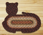 "14.5"" x 19.5"" Cat Shaped Braided Jute Rug, Set of 2 - CT-319"