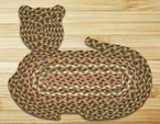 "14.5"" x 19.5"" Cat Shaped Braided Jute Rug, Set of 2 - CT-324"