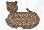 "14.5"" x 19.5"" Fir Ivory Cat Shaped Braided Jute Rugs, Set of 2"