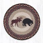 "15.5"" Bear & Moose Braided Jute Chair Pad, Set of 2"