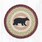 "15.5"" Cabin Bear Braided Jute Chair Pads by Sandy Clough, Set of 2"