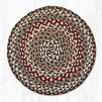 "15.5"" Fir Ivory Braided Jute Chair Pad, Set of 2"