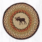 "15.5"" Moose Braided Jute Chair Pad, Set of 2"
