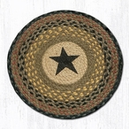 "15.5"" Star Braided Jute Chair Pad, Set of 2"