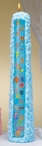 "15"" Blue Baby Shower Pillar Candle"