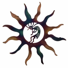 "16"" Kokopelli Sun Metal Wall Art by Robert Shields"