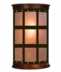 "17"" Square Panel Half Round One Light Metal Wall Sconce"