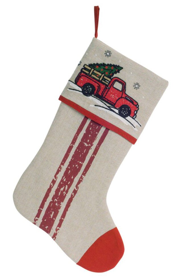 17 truck polyester christmas stocking set of 4 for Mr price home christmas decor