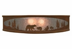 """18"""" Bear Family in the Forest Metal Ceiling Light Fixture"""