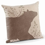 "18"" Black Bear Decorative Square Throw Pillows, Set of 4"