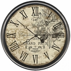 """18"""" Custom Grand Prix Vintage Style Wooden Sign Wall Clock"""