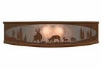 """18"""" Deer Family in the Forest Metal Ceiling Light Fixture"""