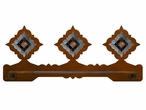 "18"" Diamond Pico Copper Scenic Metal Towel Bar"