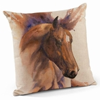 "18"" Elegance Horse Decorative Square Throw Pillows, Set of 4"