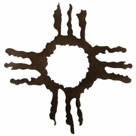 "18"" Hopi Sun Metal Wall Art by Kevin Fletcher"
