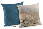 "18"" Just Breathe Decorative Square Throw Pillows, Set of 4"