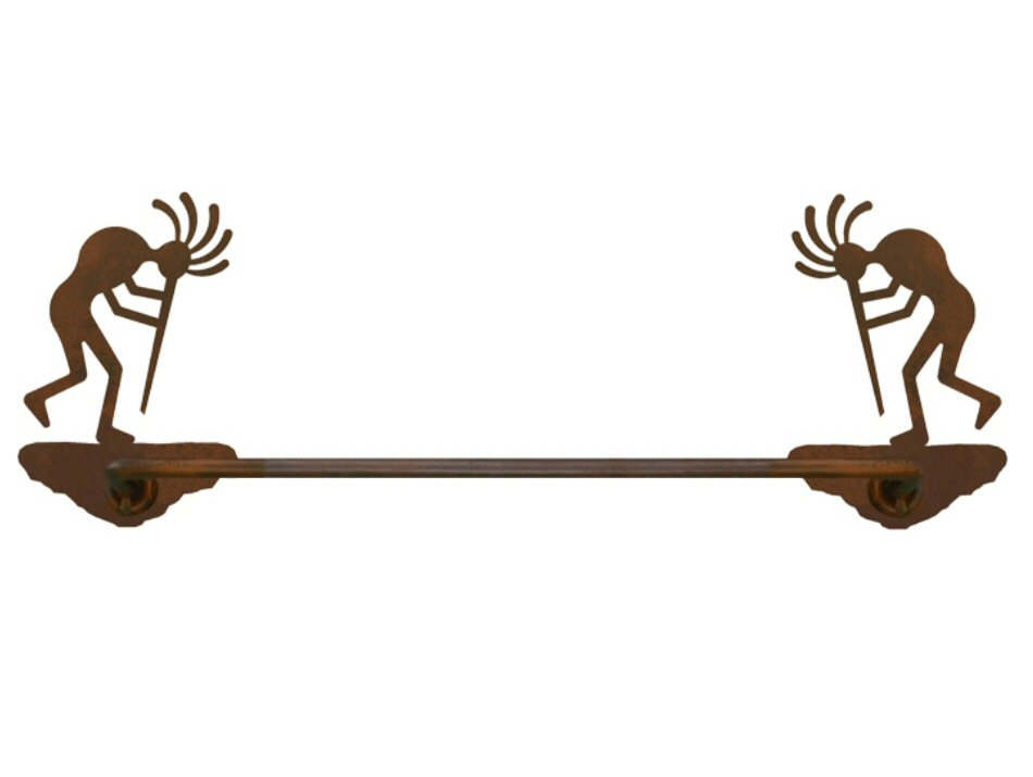 18 Kokopelli Metal Towel Bar