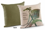 "18"" Life's a Journey Enjoy the Ride Square Throw Pillows, Set of 4"
