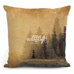 "18"" Misty Forest I Decorative Square Throw Pillows, Set of 4"
