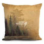 "18"" Misty Forest II Decorative Square Throw Pillows, Set of 4"