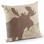 "18"" Moose Decorative Square Throw Pillows, Set of 4"