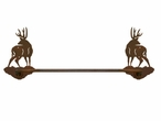 "18"" Mule Deer Metal Towel Bar"