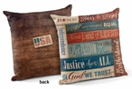"18"" Patriotic Collage USA Decorative Square Throw Pillows, Set of 4"