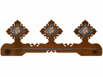 "18"" Picture Jasper Stone Scenic Metal Towel Bar"