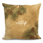 "18"" Pinecones Decorative Square Throw Pillows, Set of 4"