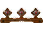 "18"" Red Jasper Stone Scenic Metal Towel Bar"
