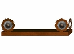 """18"""" Round Copper Concho Metal Wall Shelf with Ledge"""