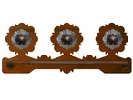 "18"" Round Pico Copper Scenic Metal Towel Bar"
