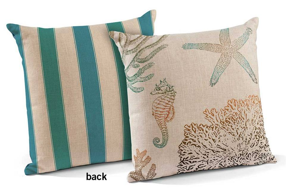 18 Sea Life Decorative Square Throw Pillows Set Of 4 Accent