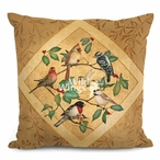 "18"" Summer Birds II Decorative Square Throw Pillows, Set of 4"