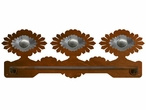 "18"" Sunburst Concho Scenic Metal Towel Bar"
