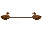 "18"" Swimming Loon Metal Towel Bar"