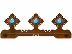 "18"" Turquoise Stone Scenic Metal Towel Bar"