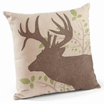 "18"" Whitetail Deer Decorative Square Throw Pillows, Set of 4"