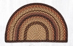 "18"" x 29"" Black Cherry Chocolate Cream Braided Jute Slice Rug"