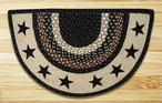 "18"" x 29"" Black Stars Braided Jute Slice Rug"