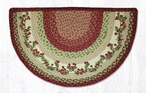 "18"" x 29"" Cranberries Braided Jute Slice Rug"