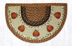 "18"" x 29"" Harvest Pumpkins Braided Jute Slice Rug"
