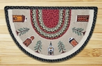 "18"" x 29"" Winter Village Braided Jute Slice Rug by Susan Burd"