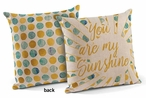 "18"" You Are My Sunshine Decorative Square Throw Pillows, Set of 4"