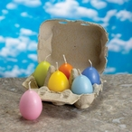 """2.25"""" Assorted Colored Egg Candles, Set of 60"""